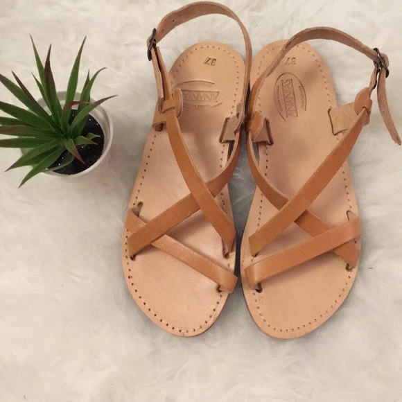 9b855939b0fc63 ananias Shoes - Ananias Greek strappy tan leather sandals
